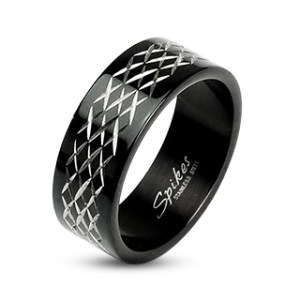 ring-mens-stainless-steel-black-IP-etched