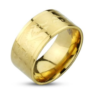 ring-mens-stainless-steel-gold-IP-dragons-etched-band