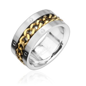 ring-mens-stainless-steel- gold-spinning-chain