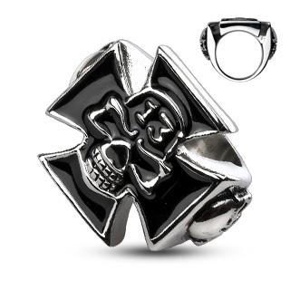 ring-mens-stainless-steel-lucky-13-skull-celtic-cross-cast