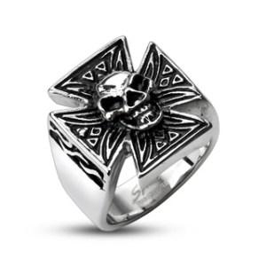 ring-mens-stainless-steel-skull-tribal-patterned-iron-cross