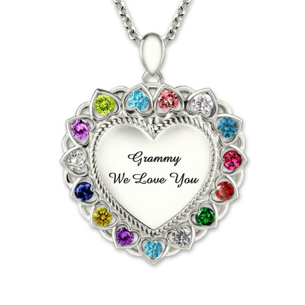 Heart-Pendant-Necklace-with-Birthstone-Sterling-Silver-Personalized-Engraved-Grandma-Necklace