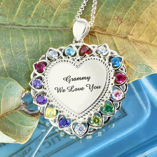 Heart-Pendant-Necklace-with-Birthstone-Sterling-Silver-Personalized-Engraved-Grandma-Necklace3