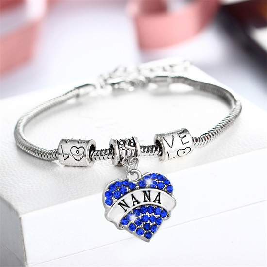 Charm-Bracelet-Crystal-Heart-NANA-Grandma-Bracelets-Bangles-For-Women-Summer-Love-Fashion-Jewelry-Silver-Plated