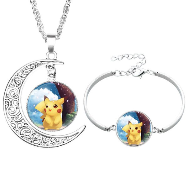 NingXiang-Popular-Game-Pokemon-Go-Pikachu-Glass-Cabochon-Moon-Pendant-Silver-Color-Chain-Necklace-Bracelet-Jewelry_jpg_640x6