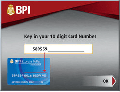 BPI-express-deposit-machine-card-number