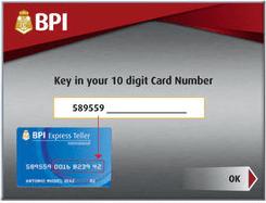 BPI-express-deposit-machine-card-number