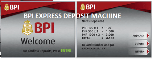 How to Deposit Money using BPI Express Deposit Machine