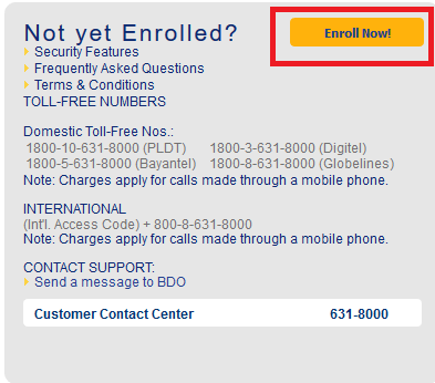 How to Enroll and Activate your BDO Online Banking Account