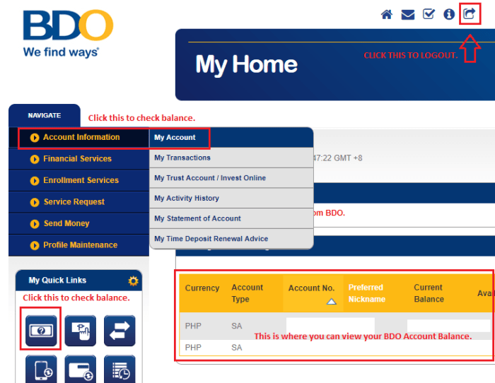 Here's How to Check your BDO Balance Online! - Your Kind Neighbor