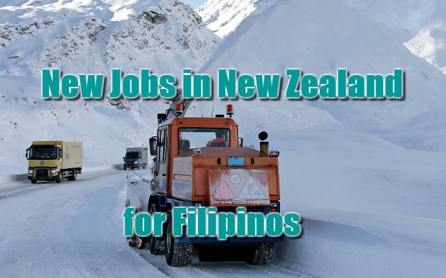 New Jobs in New Zealand for Filipinos