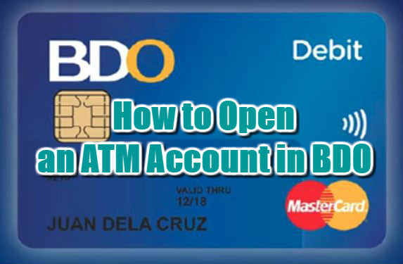 How to Open an ATM Account in BDO 2018