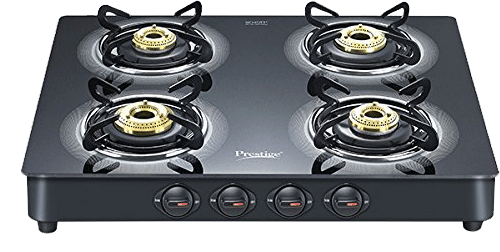 Prestige Royale Plus Schott Glass 4 Burner Gas Stove