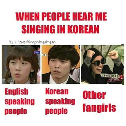 Singing In Korean People's Reaction Fangirls