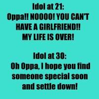 idol age dating girlfriend oppa