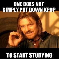 simply kpop studying school meme