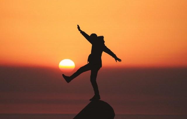 Kicking up sunshine