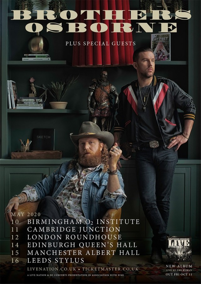 Brothers Osborne Announce UK Tour For May 2020