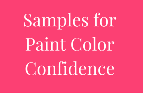 Samples For Paint Color Confidence