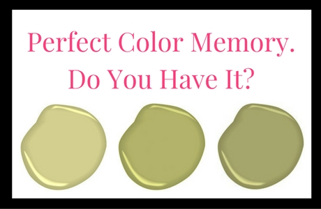 Perfect Color Memory. Do You Have It?