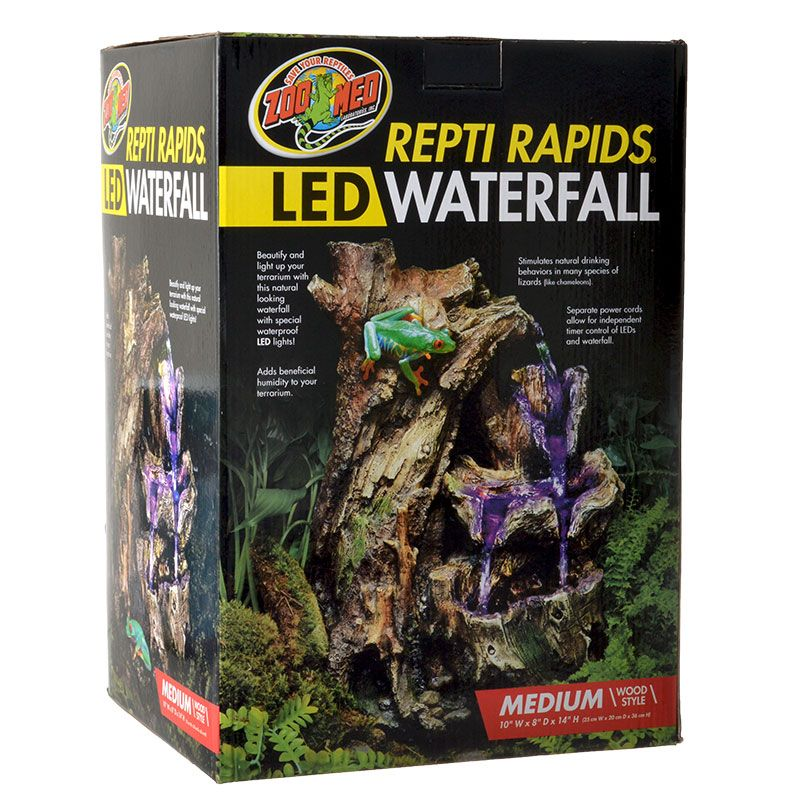 Zoo Med Repti Rapids Led Waterfall Wood Style Your