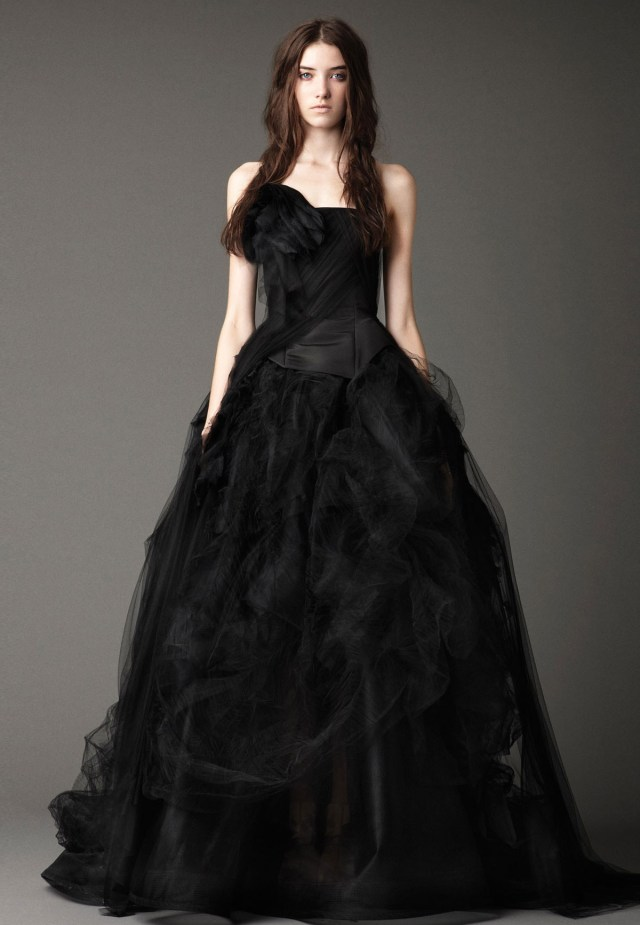 designer black wedding dress malta