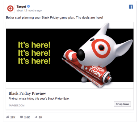 facebook retargeting campaign for black friday