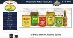 Walker Foods old product page