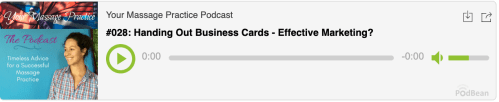 podcast - business cards