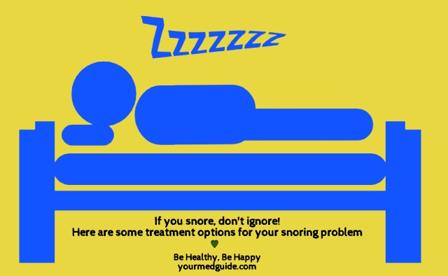 If you snore, don't ignore. Here are 6 treatment options for snoring. Vidya Sury