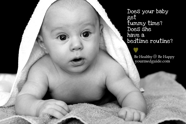 Does your baby get Tummy time? Does she have a bedtime routine? Vidya Sury
