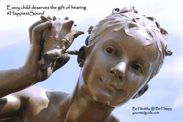 Every child deserves the gift of hearing #HappiestSound