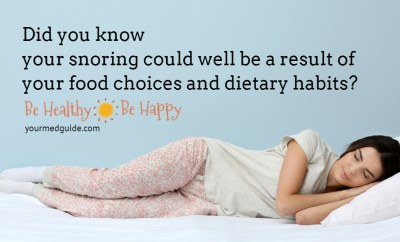 Did you know your snoring could well be a result of your food choices and dietary habits? #sleep #snoring #food