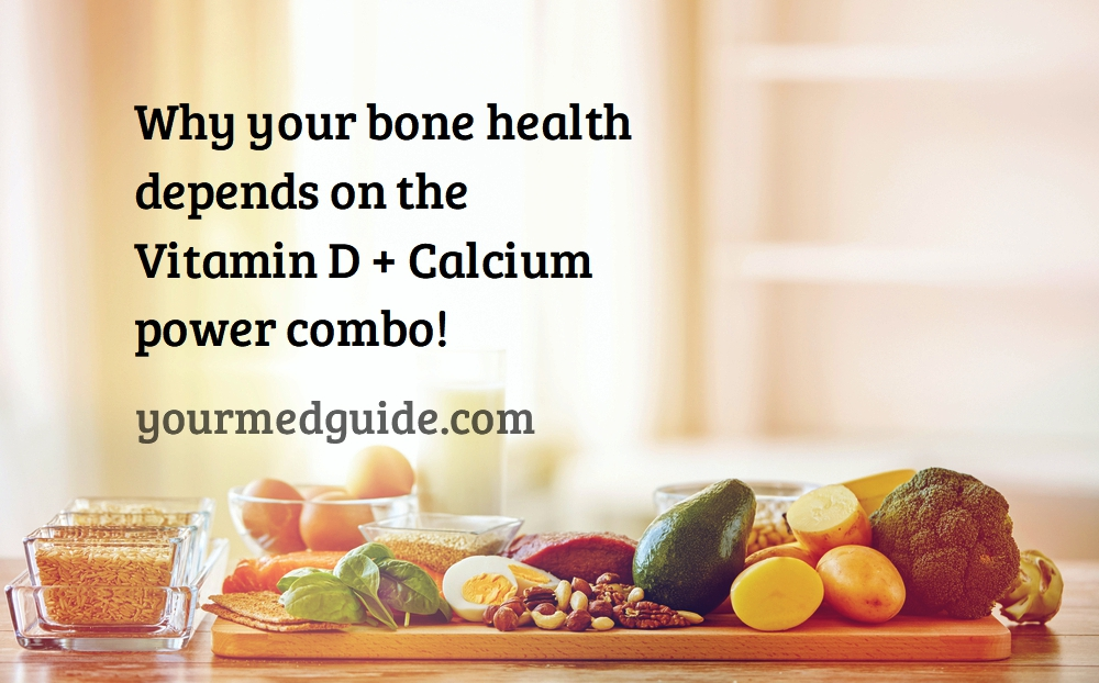 Why your bone health depends on the Vitamin D + Calcium power combo #bonehealth #healthybones #healthyliving #vitaminD #Calcium