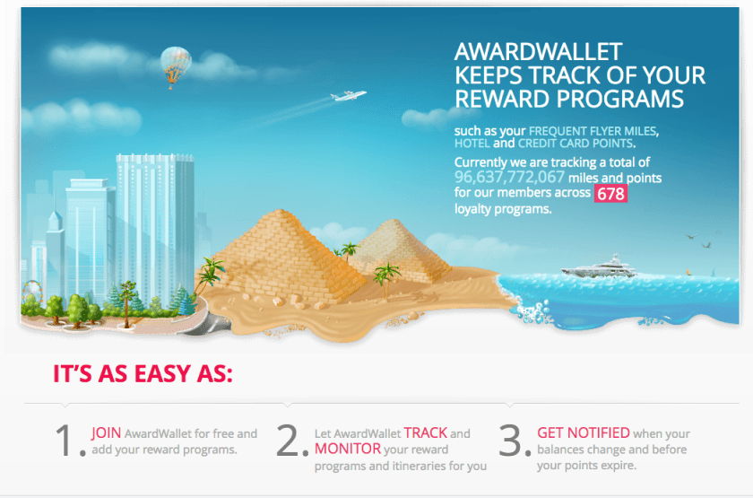 meet awardwallet the website to keep your miles and points