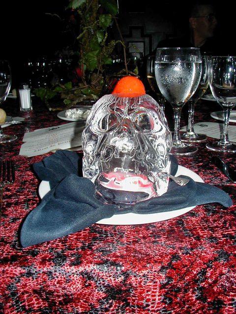 Raspberry Sorbet on an Ice Skull