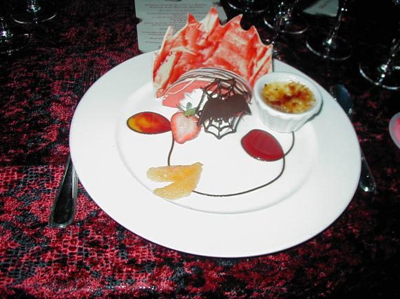 Blood Orange Mousse and a Spooky Crème Brûlée