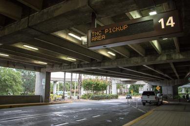 MCO signage outside Arrivals