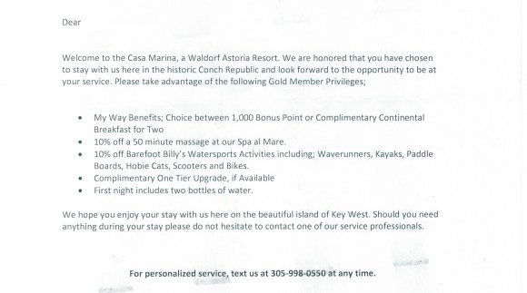 Casa Marina Gold Benefits