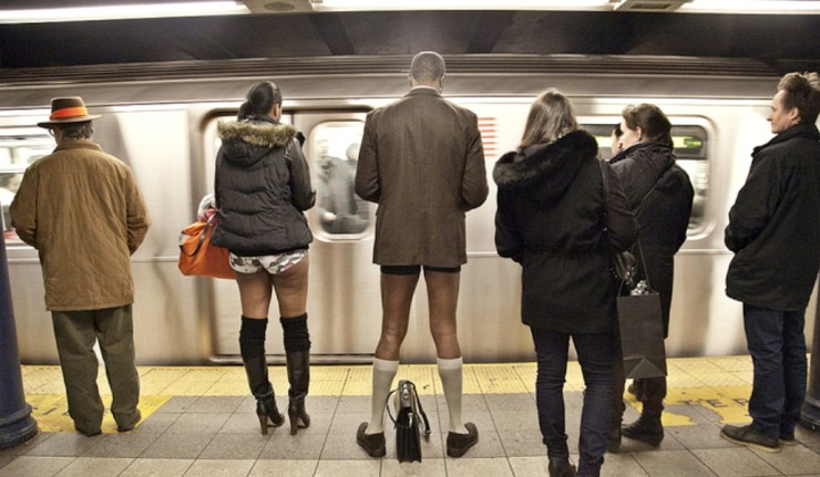 "Going To Be In A Big City This Weekend? Be On The Lookout For The ""No Pants Subway Ride!"""