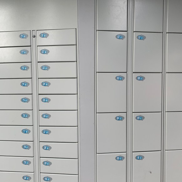 Left: Free lockers // Right: Paid lockers (size of what had previously been free)