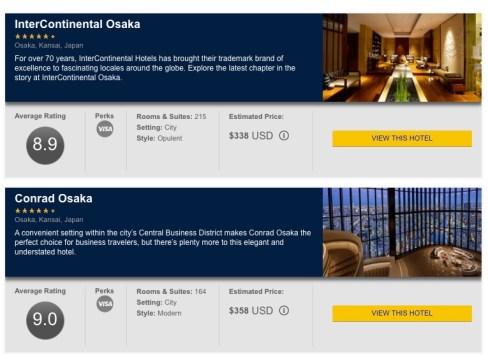 Visa Luxury Hotels