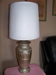 My ugly-with-potential lamp.