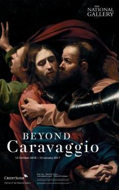 """poster of the exhibition """"Beyond Caravaggio"""" at the National Gallery 