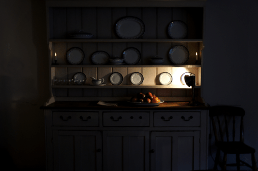 one of the beautiful cupboards in the kitchen
