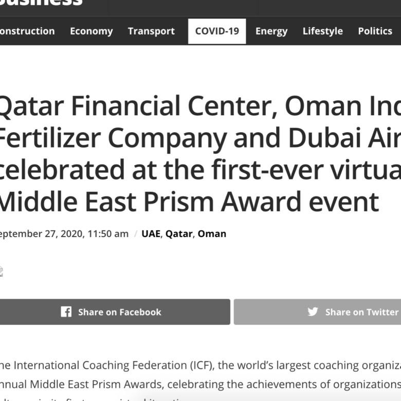 ICF Middle East Prism Regional PR Campaign