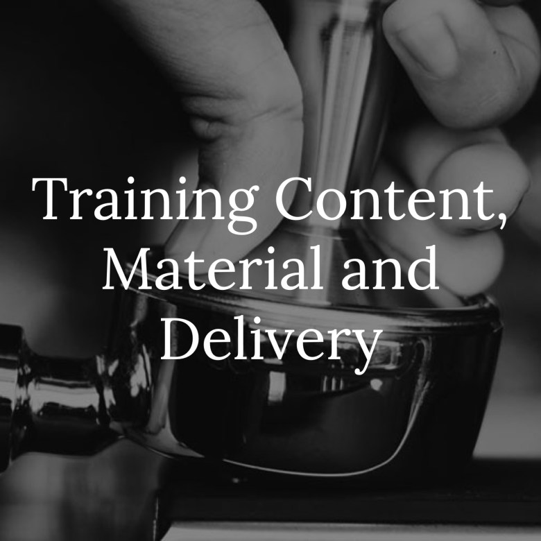 Training content, material and delivery link