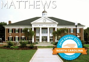 Matthews, Stallings, and Mint Hill Among Safest Cities in North Carolina!