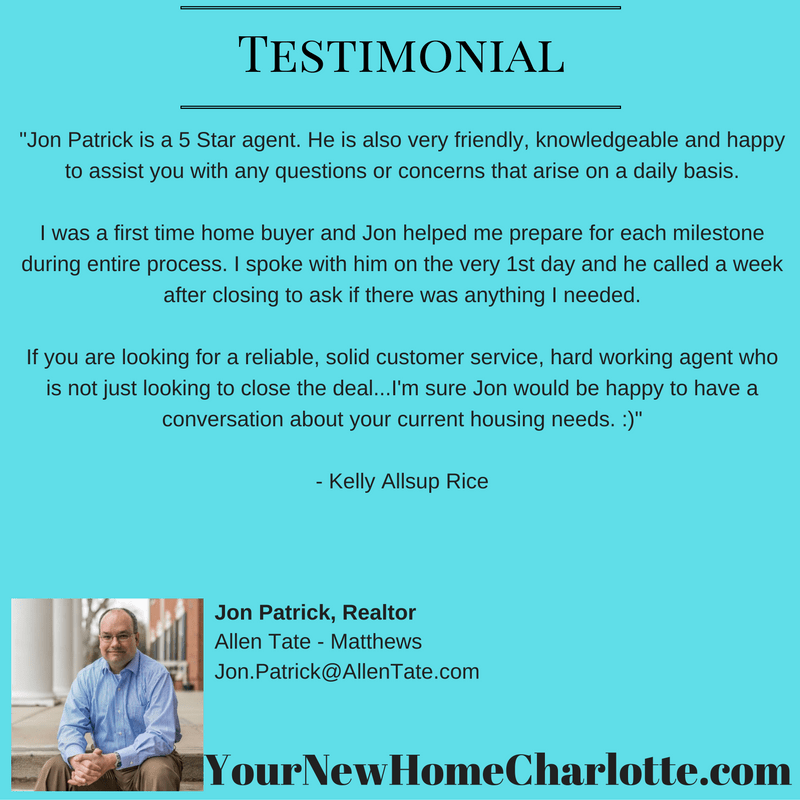 jon patrick realtor testimonial by Kelly Rice