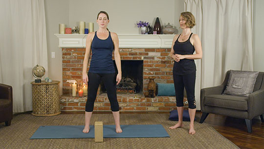 Mountain yoga pose for endometriosis